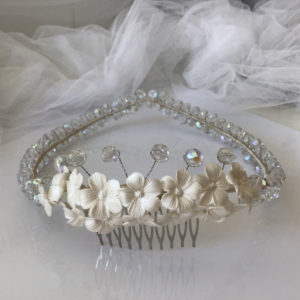 Coronas de boda novias comunión bautizo invitada fiesta