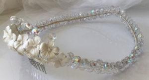 coronas para el pelo de cristales para boda novia