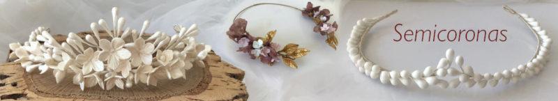 Adornos para el pelo para bodas de noche semi-coronas de flores porcelana fría y flores preservadas