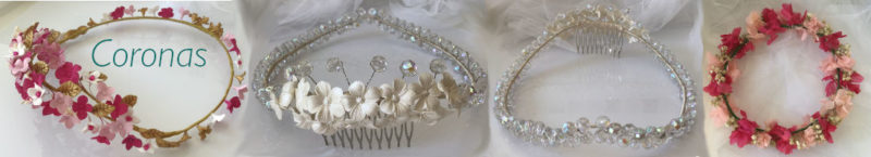 adornos para el pelo para bodas de noche. Coronas de flores porcelana fría de boda novias comunión bautizo invitada fiesta