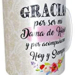 Regalos damas de honor, tazas personalizadas damas de honor boda
