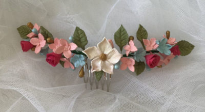 Tiaras de flores para el pelo de todo tipo, preservadas, porcelana fría