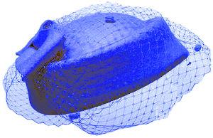 Adornos pelo boda invitada de día estilo pillbox hat de color azul ideal como tocado de invitada