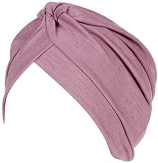 Adorno pelo invitada boda turbante de tela color morado, violeta o purpura de estilo hindú.